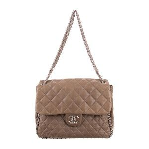 Authentic CHANEL Chain Around Maxi Flap Bag